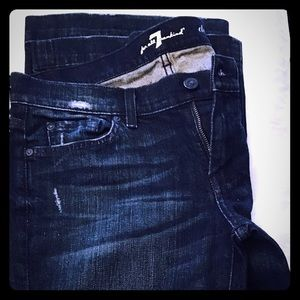 7 for all mankind dark rinse jeans Sz 29
